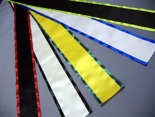 Rainbows End Blank Sashes 600x451 - $17 Blank Economy All Occasion Sash with Satin Border