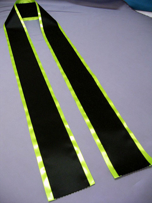 Rainbows End Blank Sashes2 - $17 Blank Economy All Occasion Sash with Satin Border