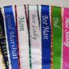 custom sash 4 100x100 - $12 Blank Economy All Occasion Sash with Silver or Gold Edging