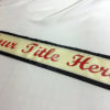 All Occasion Lettered With Border 100x100 - $219 Classic Rhinestone Embroidered Sash