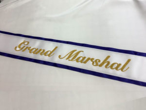 Basic Embroidered Sash With Border 300x225 - $49 Basic Chain Stitch Embroidered Sash With Satin Border