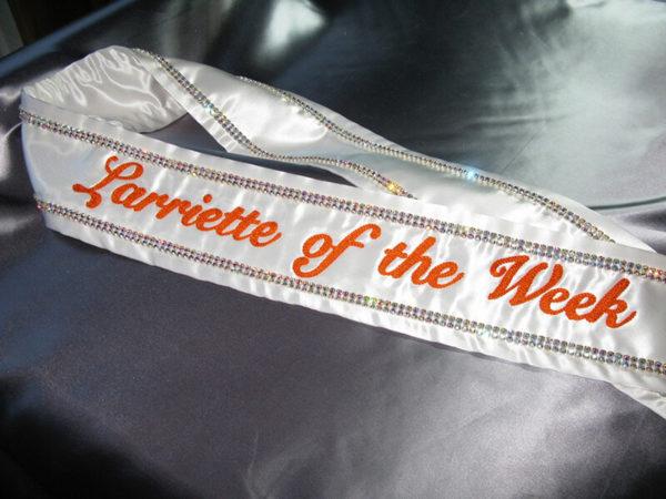 ClassicRhinestone2 600x450 - $219 Classic Rhinestone Embroidered Sash