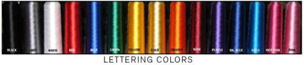 LETTERING COLORS 1 600x128 - Classic Chain Stitch Embroidered Sash