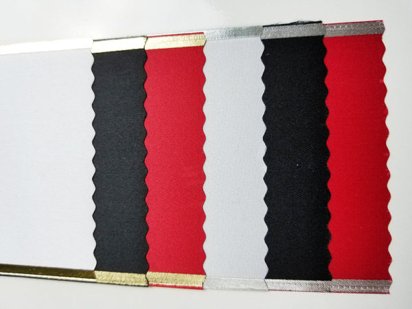 Silver and Gold Bands 600x450 - $12 Blank Economy All Occasion Sash with Silver or Gold Edging
